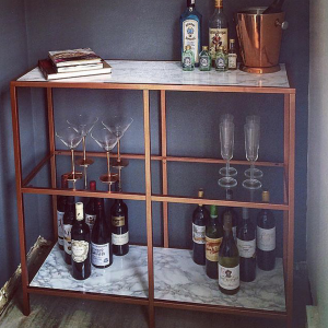 Marble and Copper drinks unit