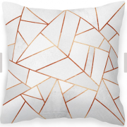 Copper and stone hexagonal cushion
