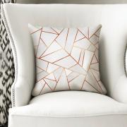 Copper & Stone Hexagonal print cushion