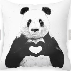 All you need is love Panda cushion