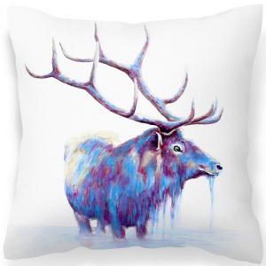 Elk stag print cushion