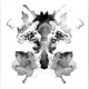 Fox Rorschach Black & White Abstract